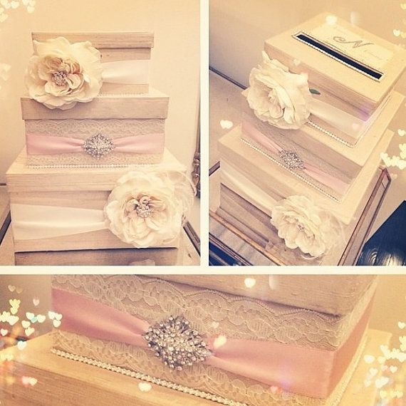 Wedding Gift Box Bling Card Box Rhinestone Money Holder Custom