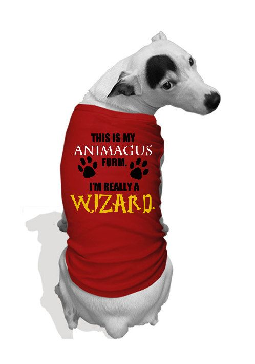 Personalized Harry Potter Sirius Black Animagus dog shirt (fits cats