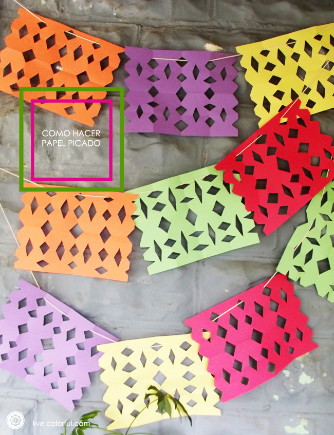 diy easy punched paper using colored paper sheets como hacer papel picado super fcil