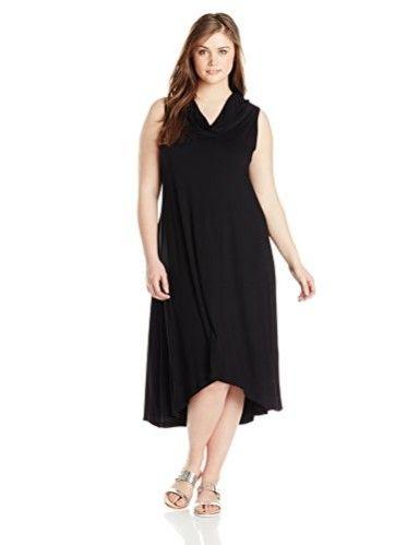 Karen Kane Womens Plus Size Katie Cowl Neck Maxi Dress Plus Size