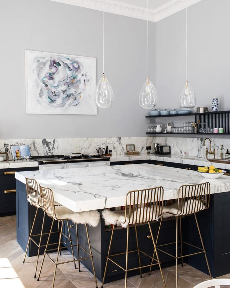 grey blue and marble INTERIOR R; kitchen Pinterest Marbles