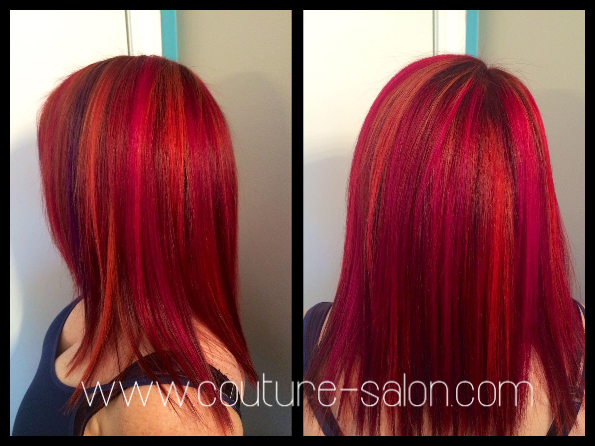 Couture salon magma copper high lights hot pink also de beste bildene for wella hair colors coloring og rh pinterest