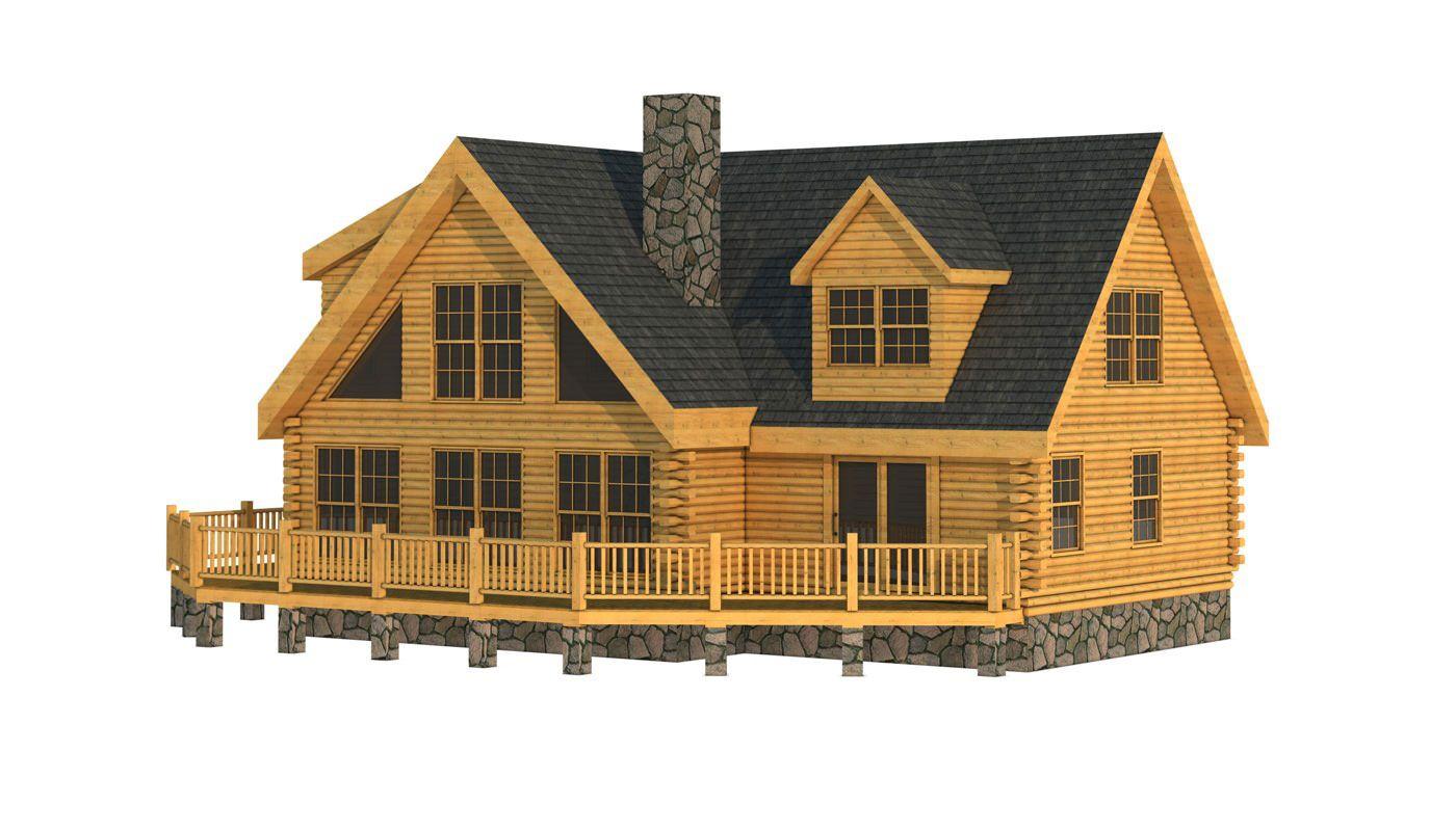 Designers · Newburn Front Elevation   Southland Log Homes