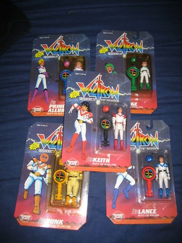 The 1980 S Voltron Team Action Figures In Packages Vintage Toys Voltron Childhood Toys