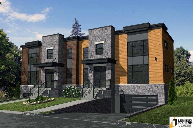 Jumelé à vendre rue de Grenoble à Québec, moderne et ouvert Design - Modeles De Maisons Modernes