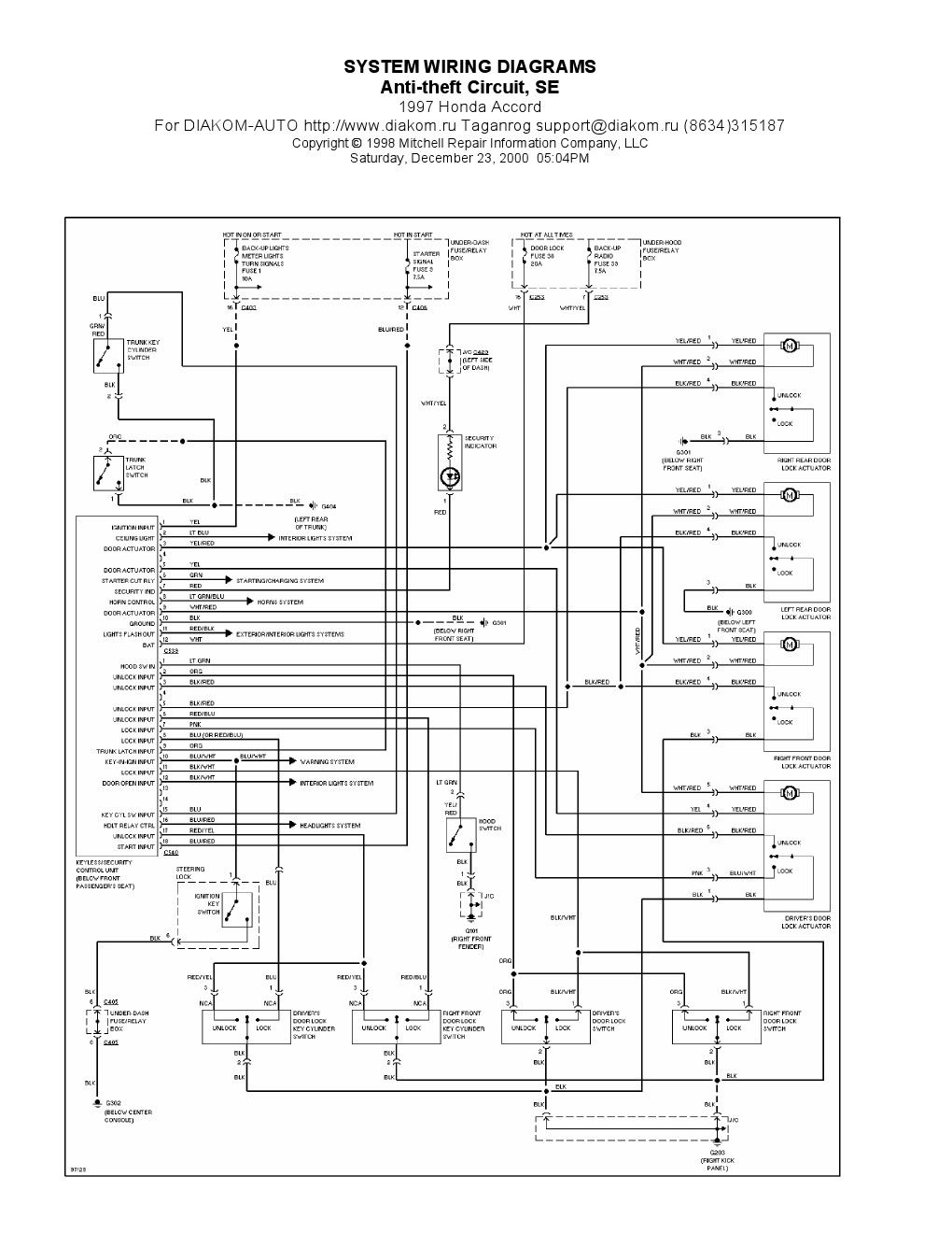 Honda Main Relay Wiring Diagram
