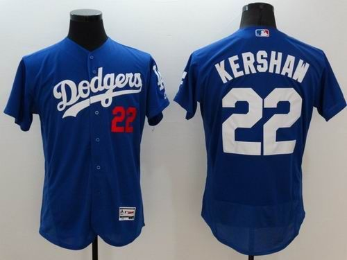de33c5c99 Los Angeles Dodgers  22 Clayton Kershaw Blue 2016 Flexbase Majestic Baseball  Jersey