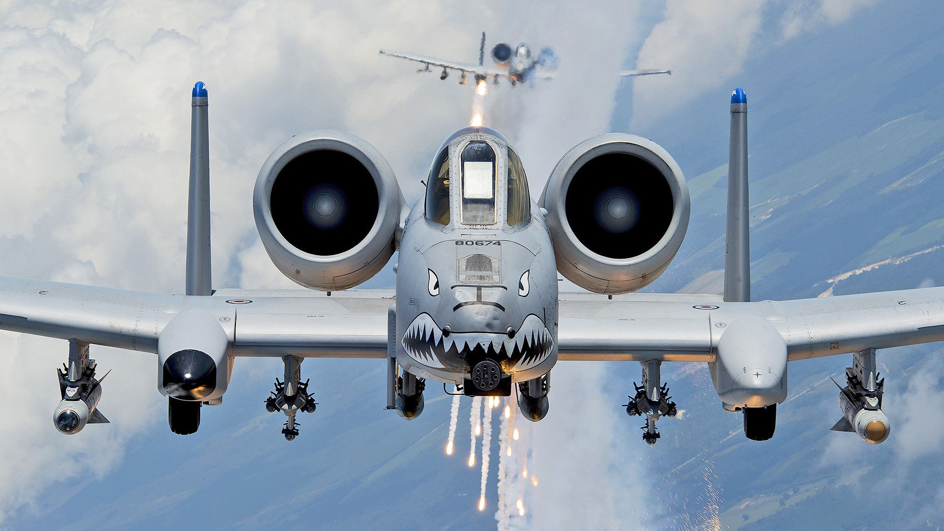 A 10 Warthog Wallpaper Hd 1920x1080 High Resolution Fighter Jets Warthog Military Aircraft
