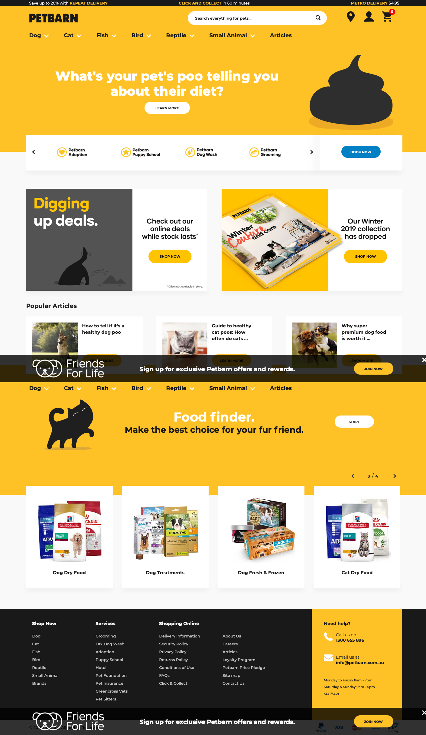 Https Www Petbarn Com Au Web Design Website Inspiration