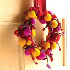 Image result for felted fall wreath
