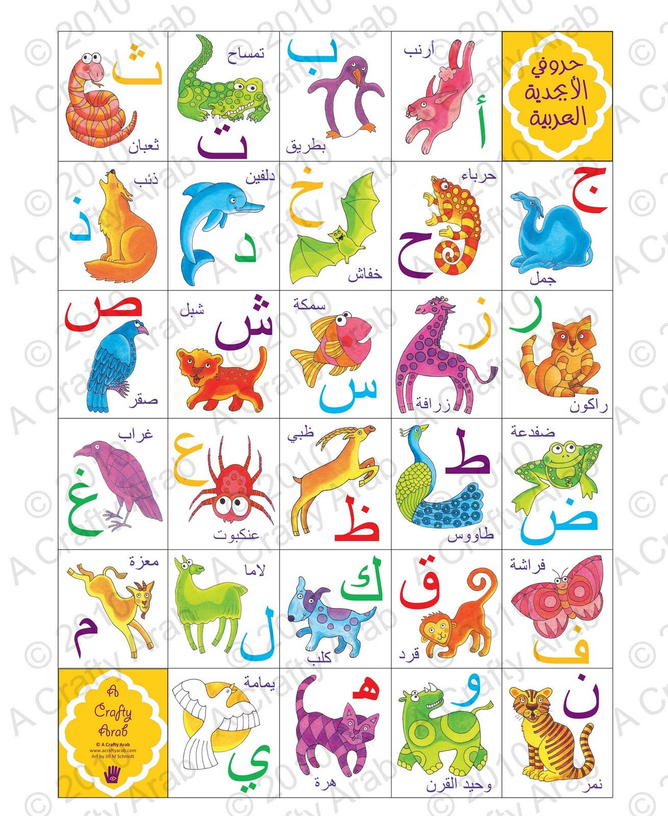 Arabic Alphabet Animal Poster Is Here