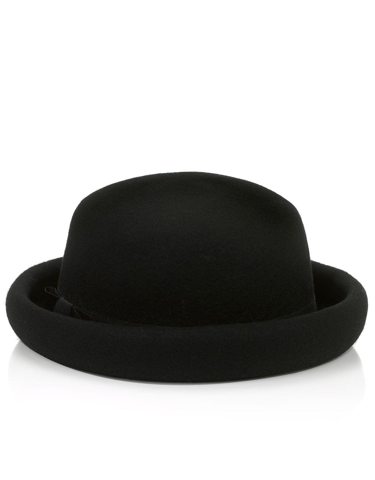 Felt Roller Bowler Hat | Black | Accessorize