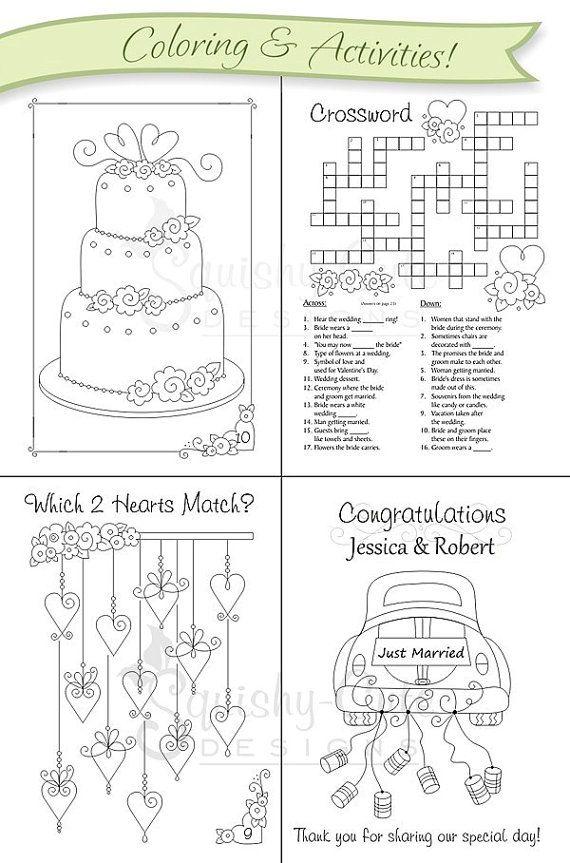 Wedding Coloring Book Kids Wedding Favors By Squishycutedesigns Wedding With Kids Kids Wedding Favors Kids Wedding Activities