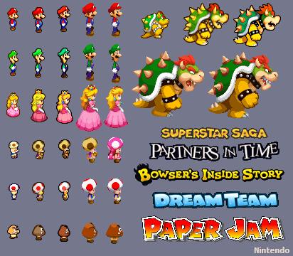 Image Result For Mario Superstar Saga 3ds Sprites Pixel