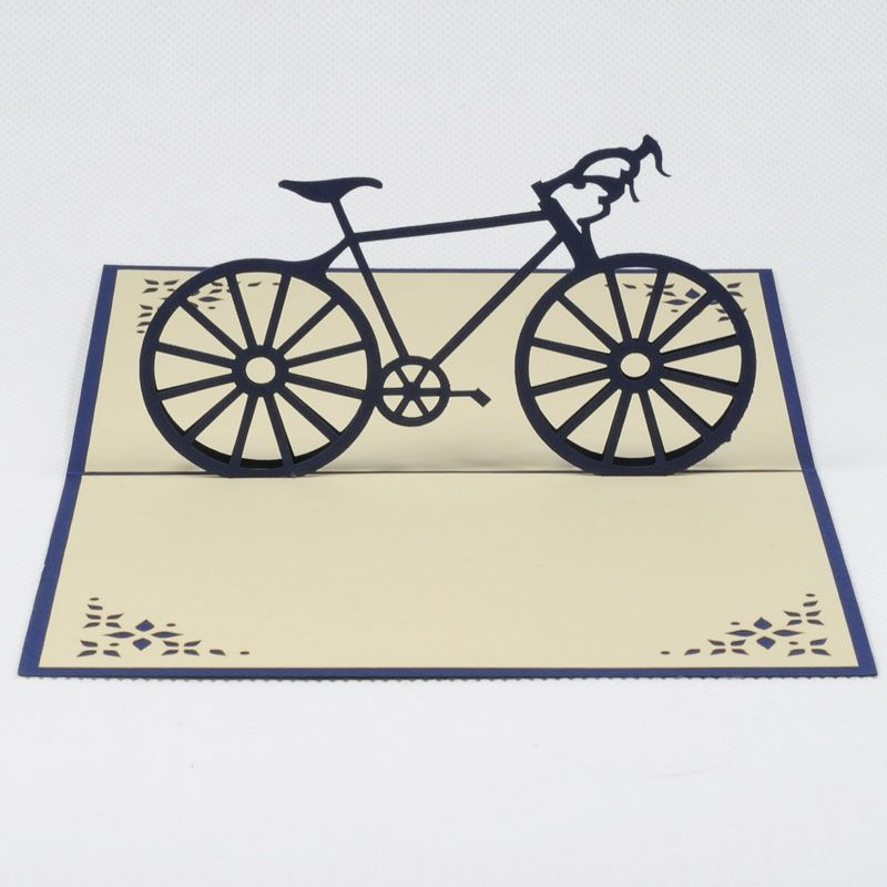 Popup new bike card for man Sport popup cardFS050Bike for – Bicycle Birthday Cards