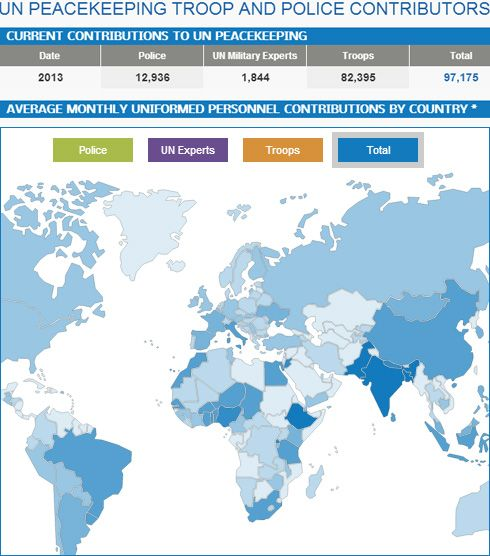 Troop and police contributors united nations peacekeeping maps contributions by the countries to united nations peacekeeping operations gumiabroncs Image collections