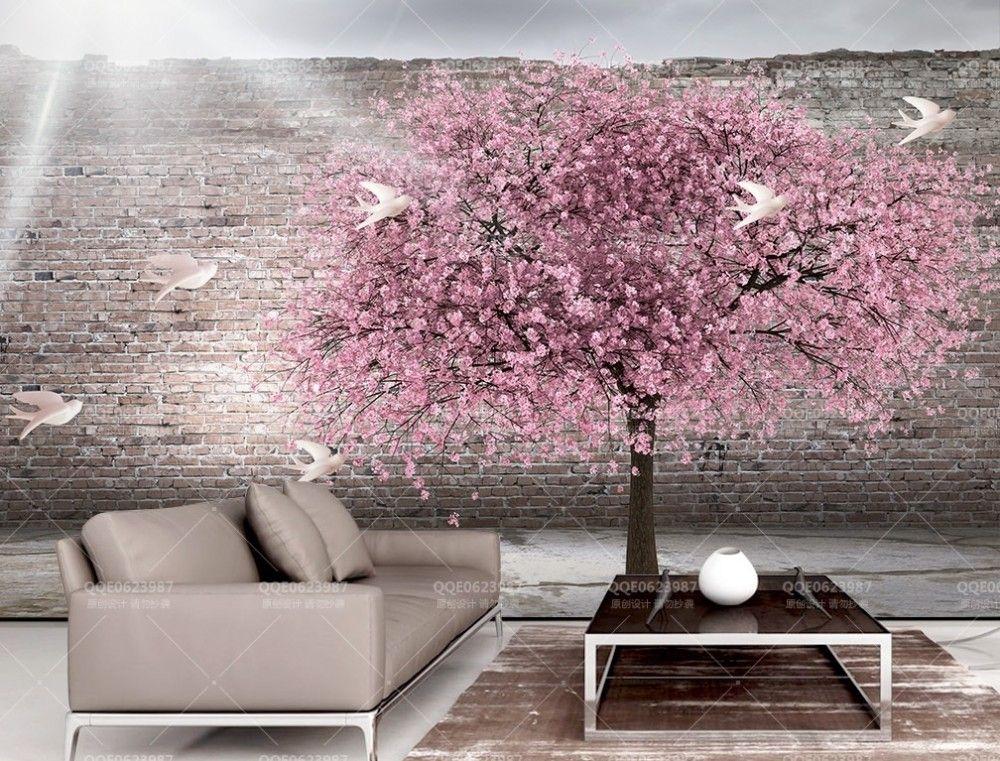Pink Cherry Blossom Wallpaper Mural Mural Wallpaper Wall Murals Floral Wallpaper