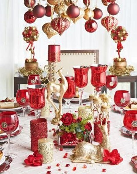 32 Amazing Red And Gold Christmas Décor Ideas DigsDigs Noël