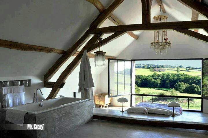 Room in the attic, with gorgeous view...♥