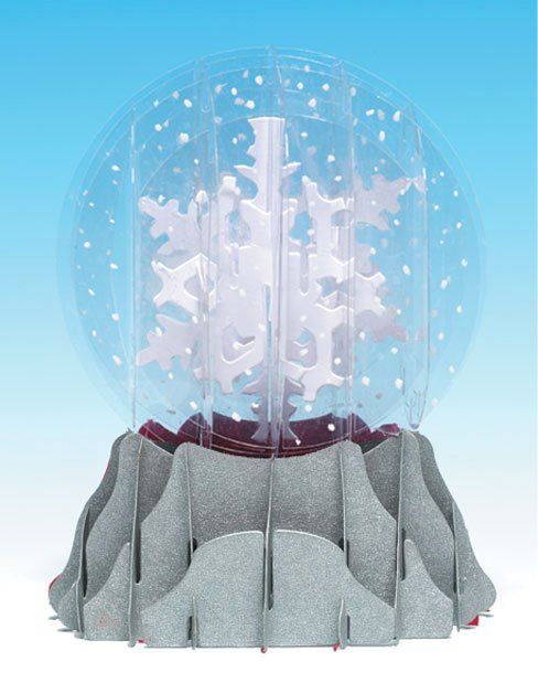 3d Snow Globe Card Holiday Snowflakes Snow Globes Pop Up Flower Cards