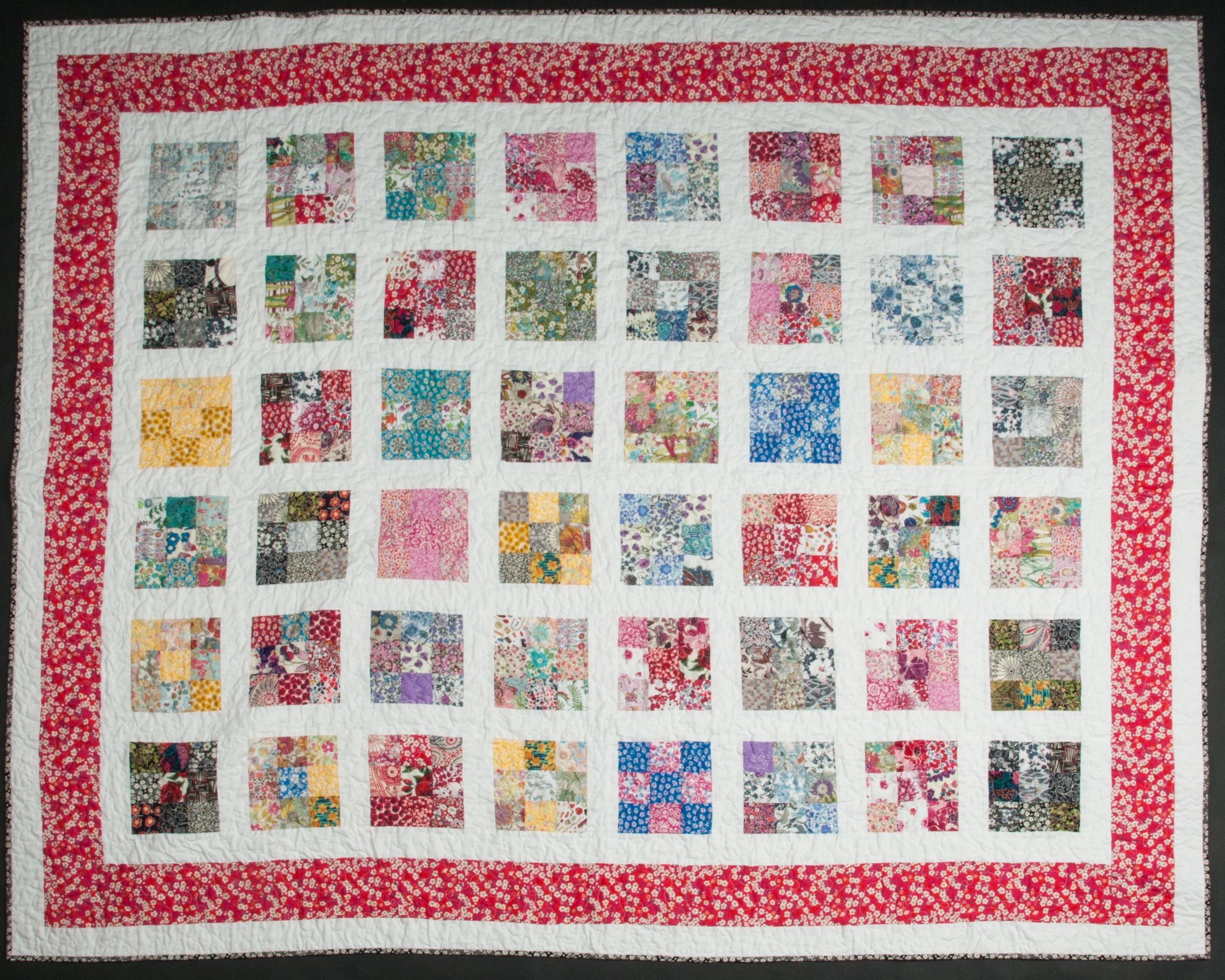 Nine patch Liberty London quilt | Liberty | Pinterest