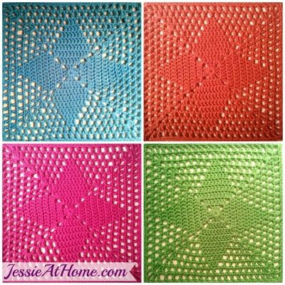 This Easy Afghan Square Is Great For Beginners The Four Points