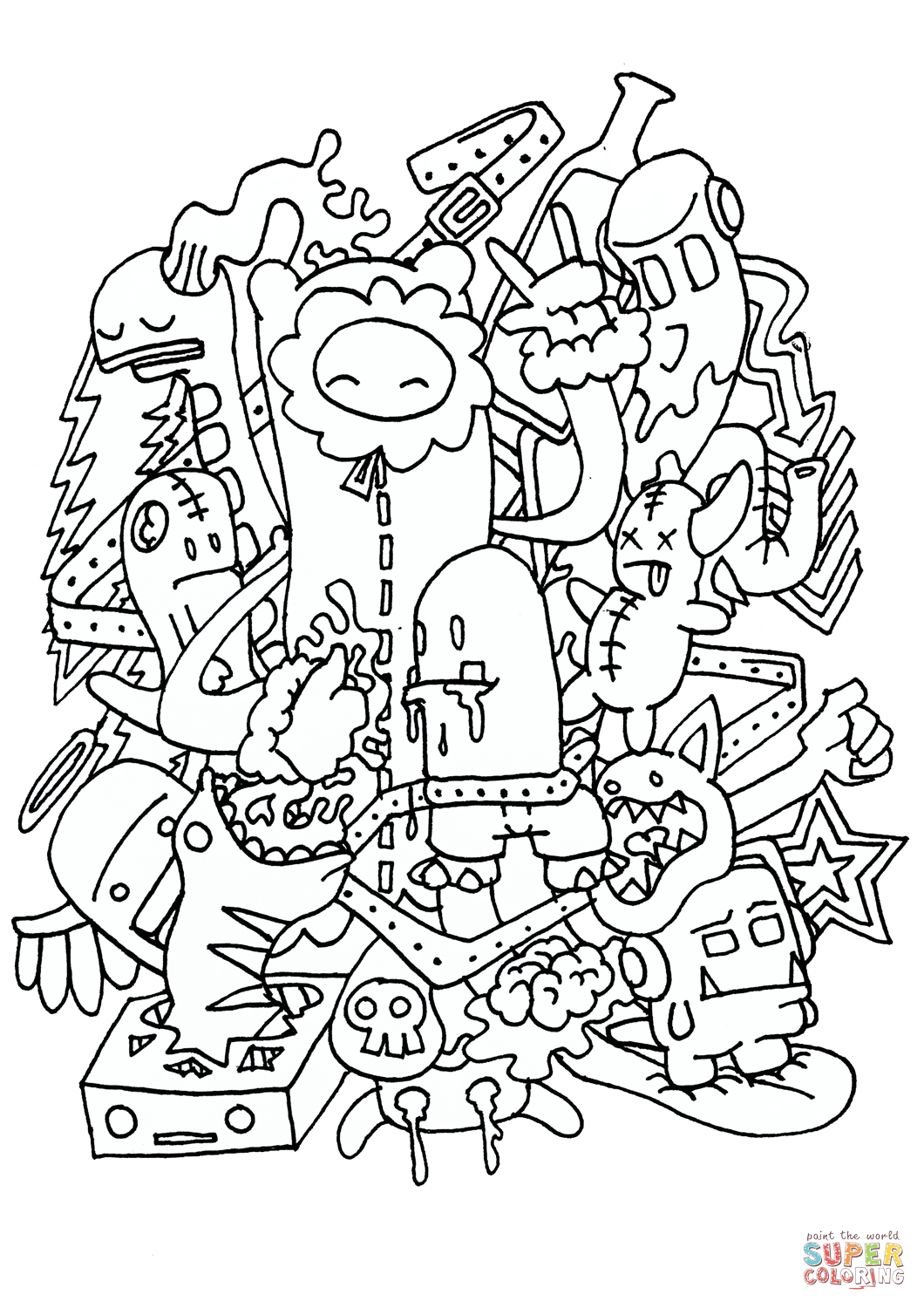 Doodle Rocking Coloring Page From Doodle Art Category