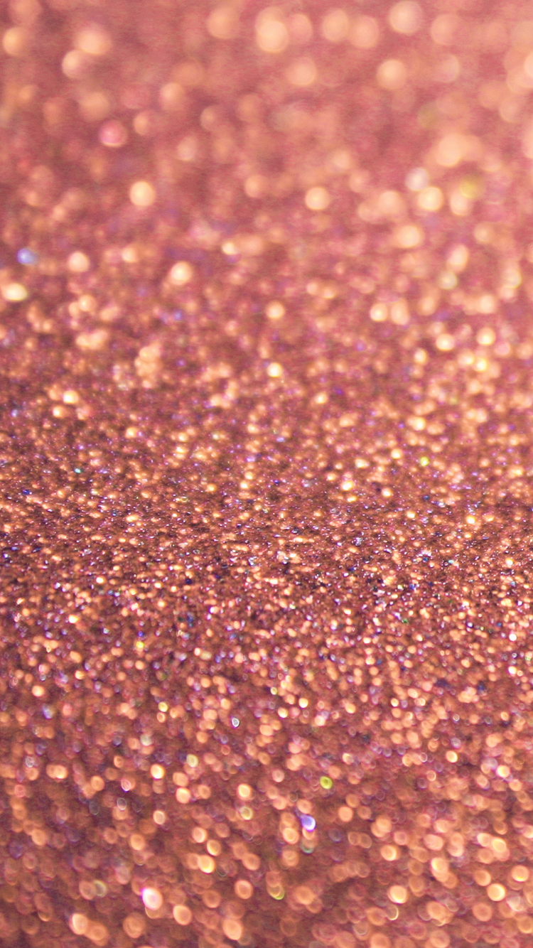 Rose Gold Glitter Sparkles Iphone 6 Wallpaper Background Fond D