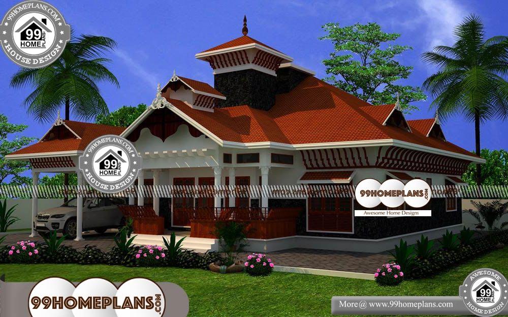Nalukettu Houses In Kerala 50 Traditional Kerala House Plans With Photosnalukettu Houses I Low Cost House Plans Traditional House Plans House Plans With Photos