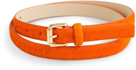 78227630cd Skinny Calf Hair Belt - Lyst