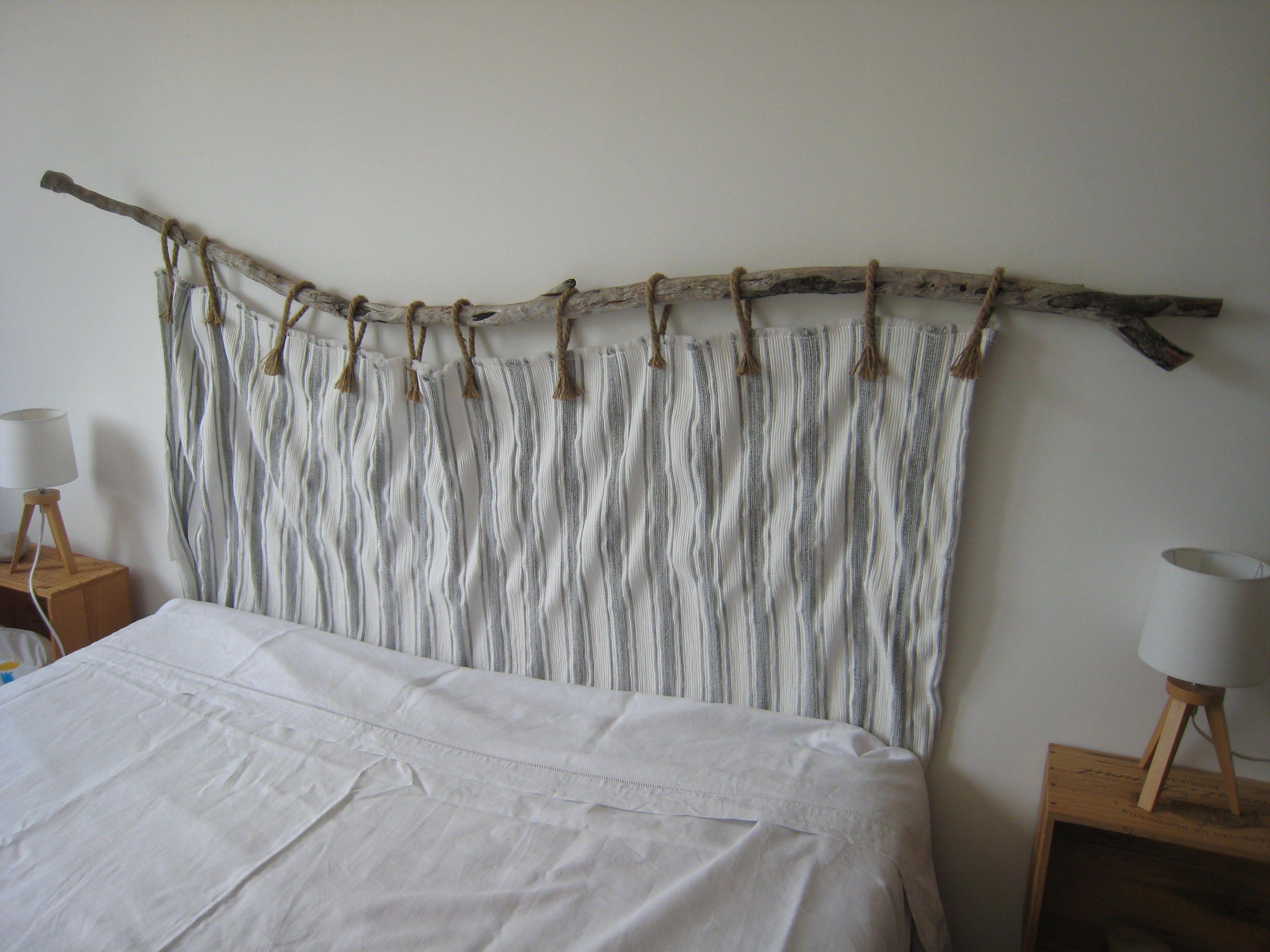 tete de lit bois flotte deco tete de