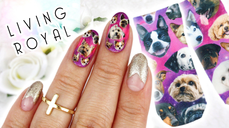 Galaxy Puppy Nail Art Inspired By Living Royal Nail Designs