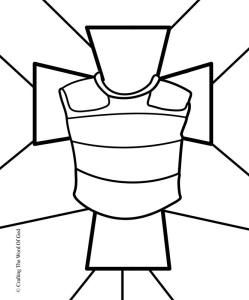 Breastplate Of Righteousness Coloring Page. Page for each