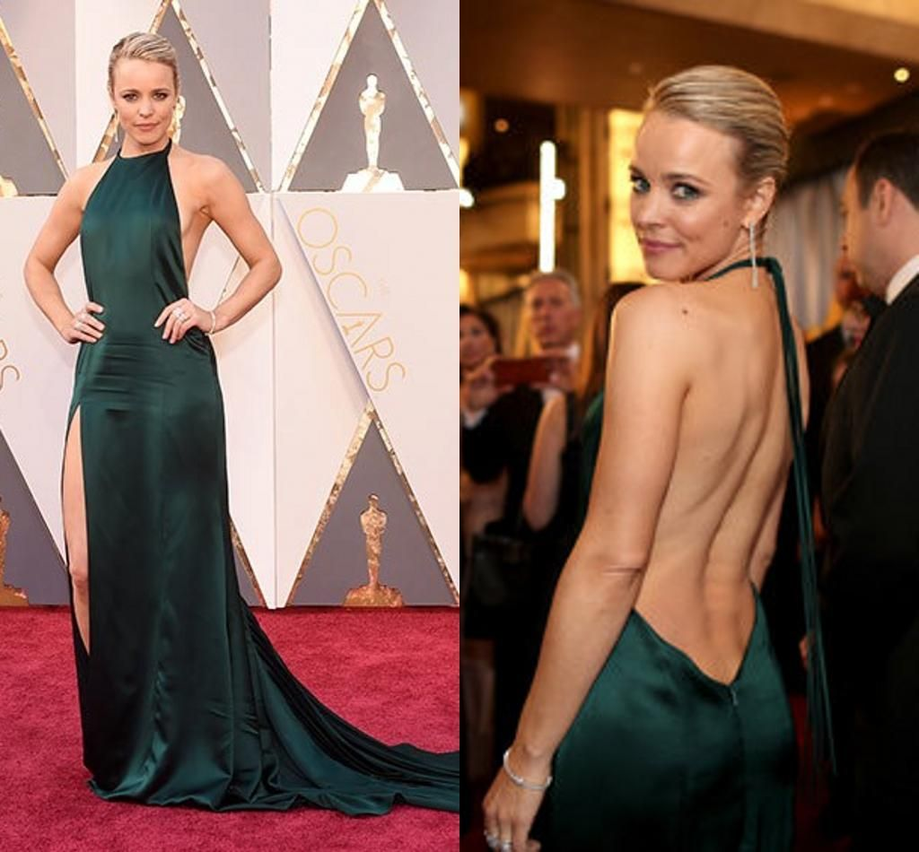 Rachel McAdams Split Celebrity Evening Dresses 2016 88th Oscar Dark ...