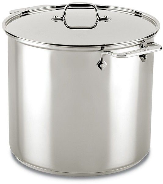 All Clad Stainless Steel 16 Quart Stock Pot Large Family Living Size Afflink