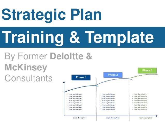 Strategic Plan Training  Template By Former Deloitte  Mckinsey