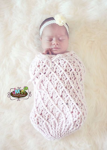 Mini Harlequin Baby Cocoon or Swaddle Sack pattern by Crochet by ...