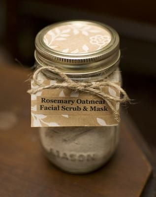 Rosemary Oatmeal Facial Scrub Mask In A Mason Jar My Next Big Amazing Decorative Lids For Canning Jars