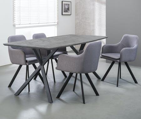 Habitdesign 0F4586A Table de salle à manger extensible de