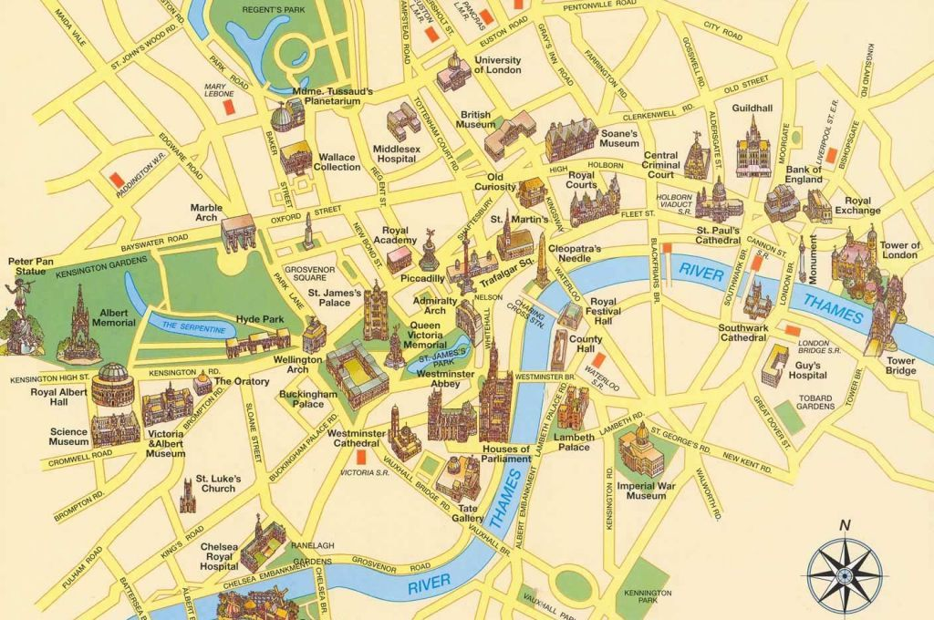 London City Center Tourist Map Maps Pinterest London Map