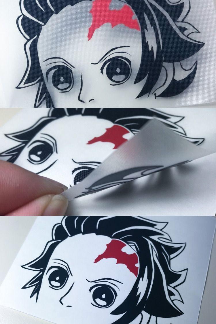 Tanjiro Diecut Peeking Sticker Anime Car Window Glass Computer Demon Slayer Stickers Etsy Handmade Slayer [ 1125 x 750 Pixel ]