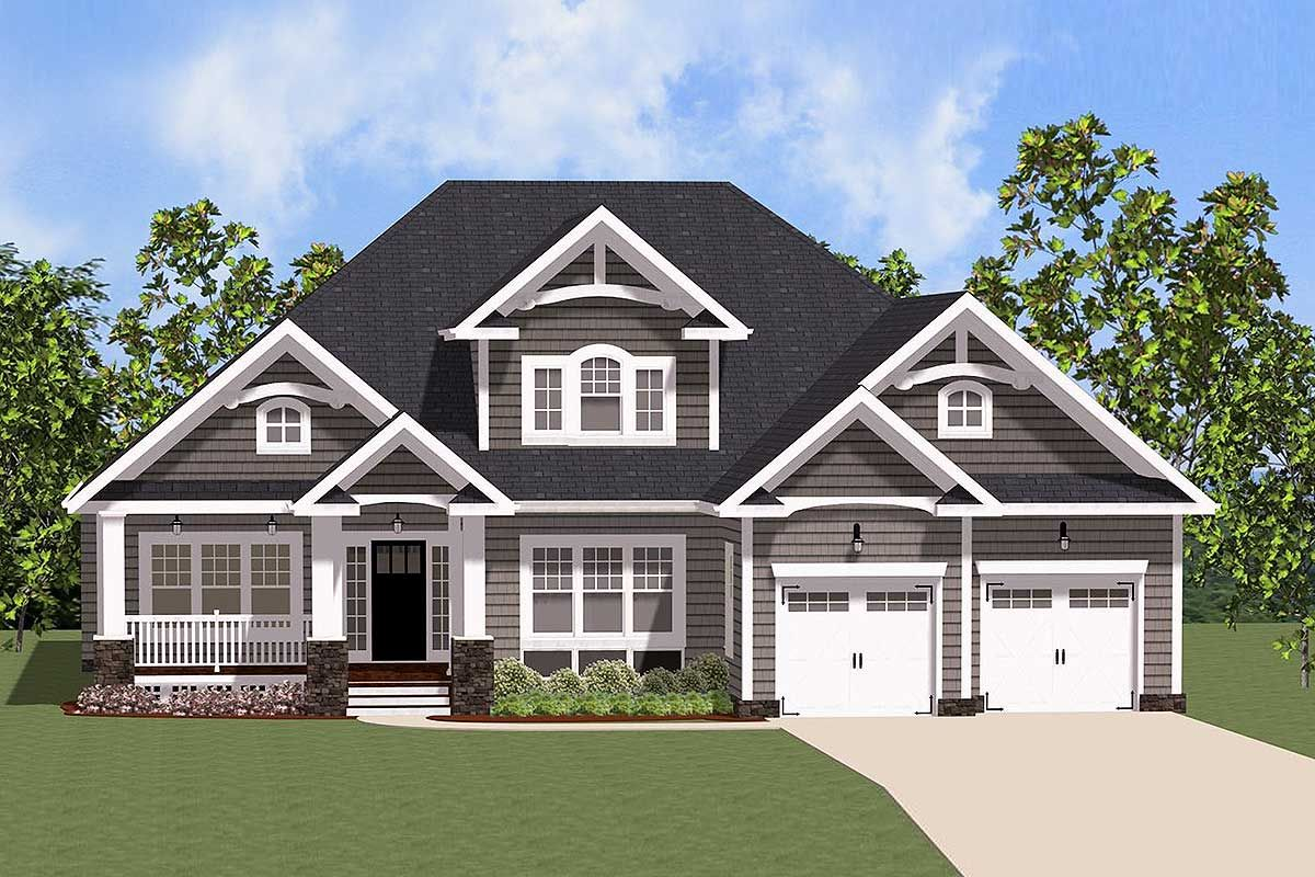 Plan 46291LA: Lovely Traditional House Plan with Options ...