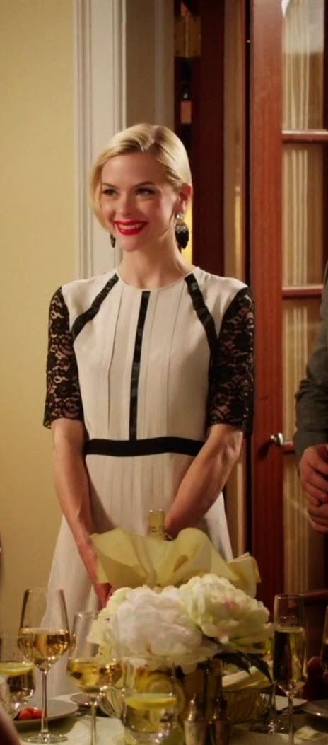 "Lemon's Clements Ribeiro Kaitia pleated silk dress   ""Hart of Dixie"" Season 3, Episode 16 ""Carrying Your Love With Me"""