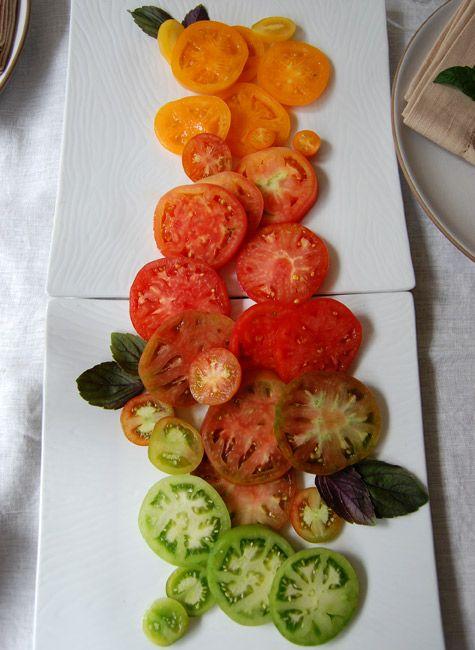 Heirloom tomatoes -- edible art