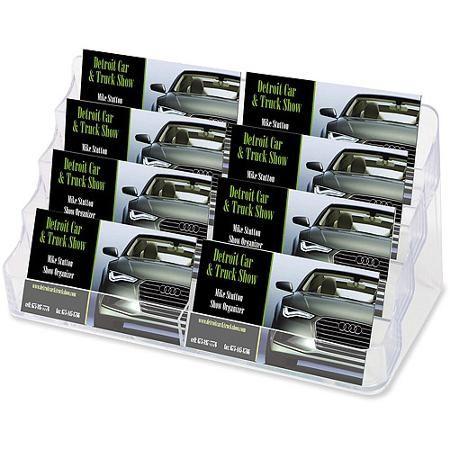 Deflecto eight pocket business card holder capacity 400 cards deflect o desktop clear business card holder colourmoves Choice Image