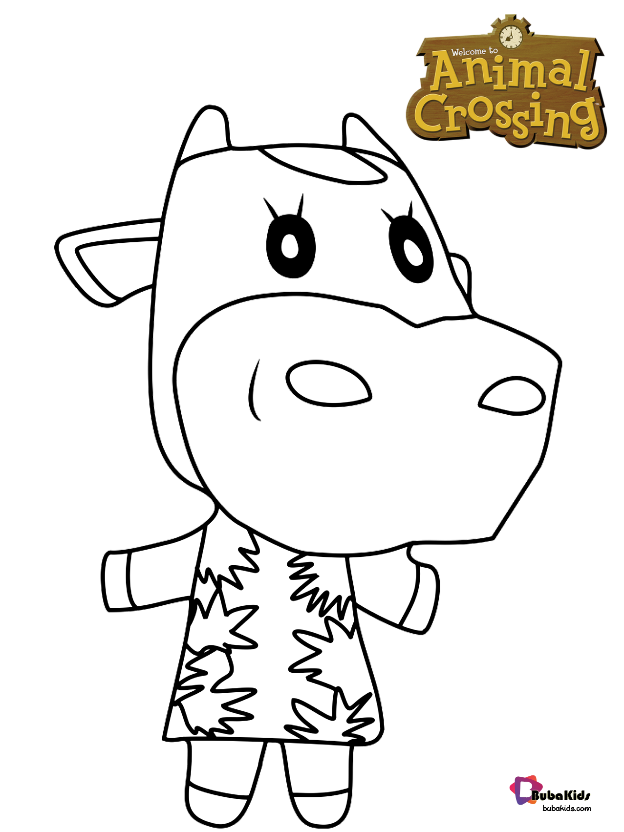 Norma Animal Crossing Character Coloring Page Free Animal Crossing Coloring Pages Collection Animal Crossing Characters Animal Crossing Cartoon Coloring Pages