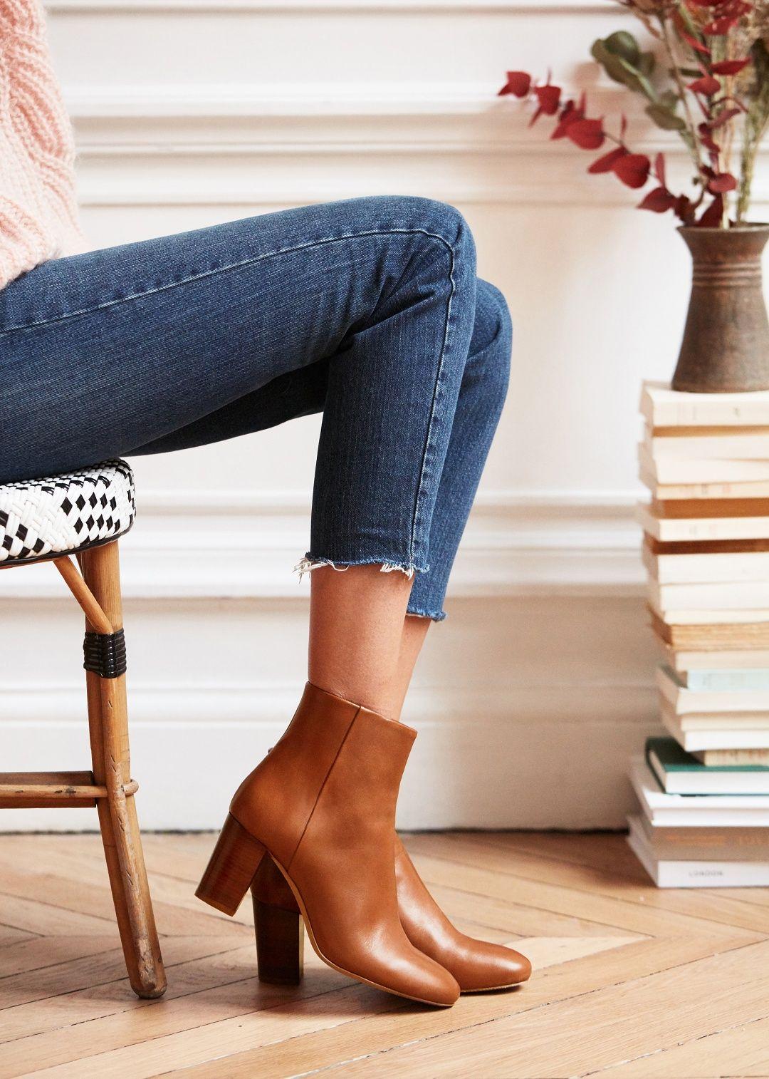 23807a1a595d Sézane - Léa Boots | REINVENT. | Boots, Fashion, Sezane clothing