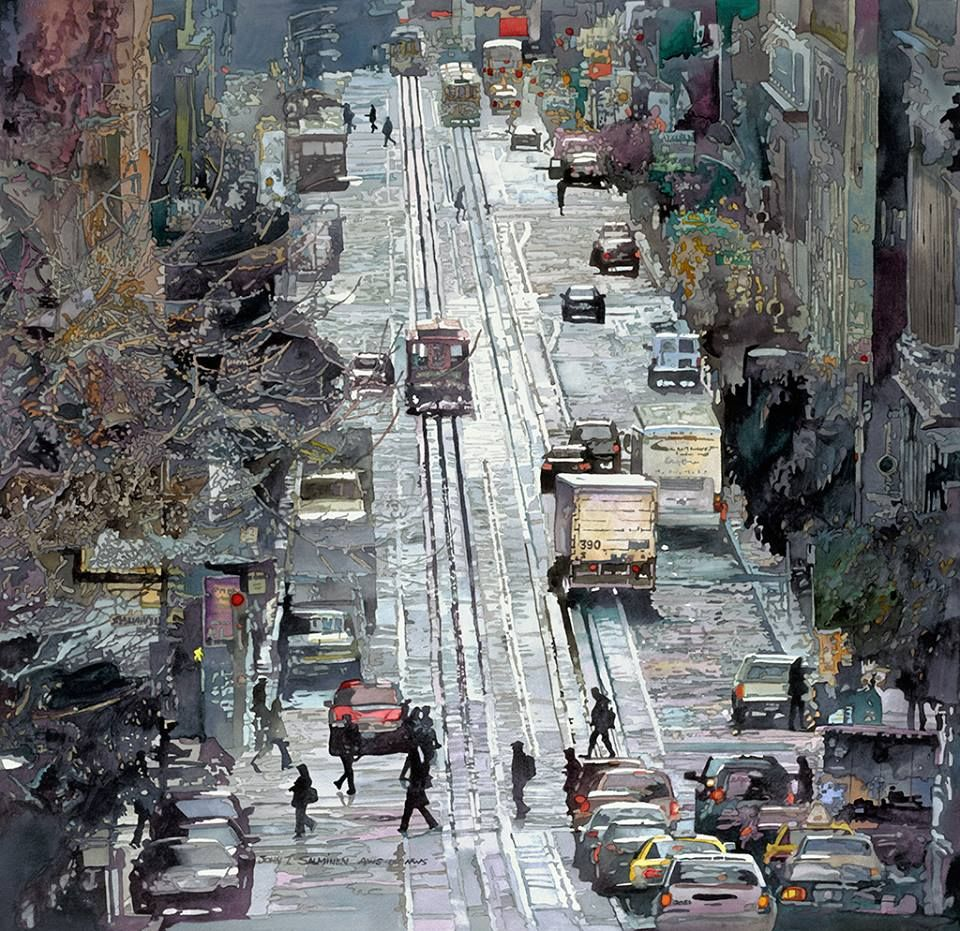 John Salminen, 1945 | Abstract Cityscape painter | Tutt'Art@ | Pittura • Scultura • Poesia • Musica