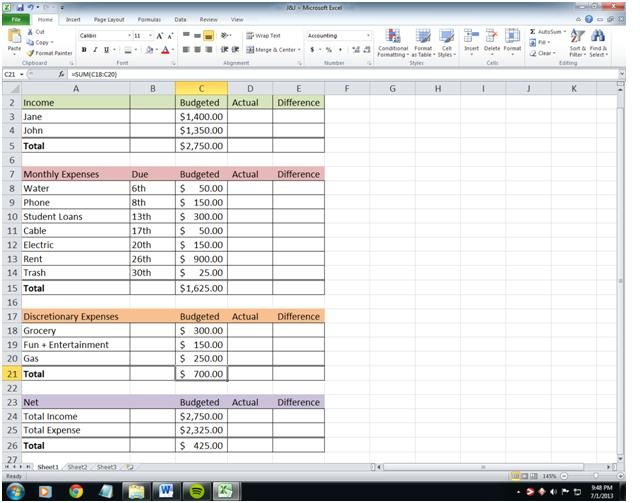 As an accountant, people are always asking me about how I manage our - simple budget