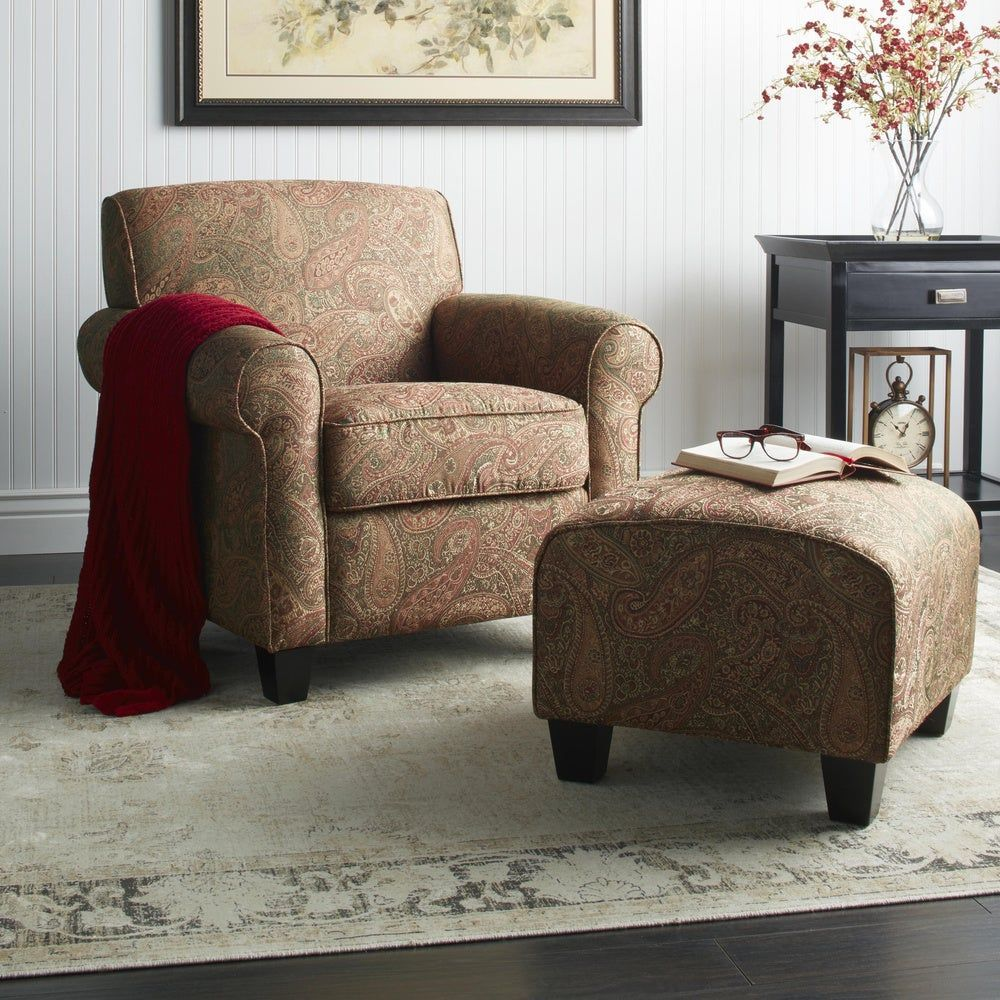 Copper grove bernsdorf handtied paisley arm chair and